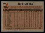 1983 Topps #499  Jeff Little  Back Thumbnail