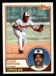 1983 Topps #192  Floyd Rayford  Front Thumbnail