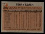 1983 Topps #187  Terry Leach  Back Thumbnail