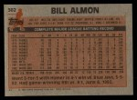 1983 Topps #362  Bill Almon  Back Thumbnail