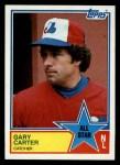 1983 Topps #404   -  Gary Carter All-Star Front Thumbnail