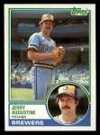 1983 Topps #424  Jerry Augustine  Front Thumbnail