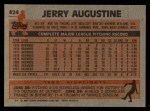 1983 Topps #424  Jerry Augustine  Back Thumbnail