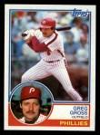 1983 Topps #279  Greg Gross  Front Thumbnail