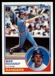 1983 Topps #371  Mike Richardt  Front Thumbnail