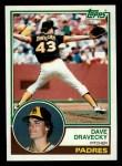 1983 Topps #384  Dave Dravecky  Front Thumbnail
