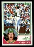 1983 Topps #413  Matt Keough  Front Thumbnail