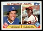 1983 Topps #706   -  Steve Carlton / Floyd Bannister ERA Leaders Front Thumbnail