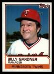 1983 Topps #11  Billy Gardner  Front Thumbnail