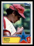 1983 Topps #398   -  Manny Trillo All-Star Front Thumbnail