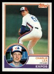 1983 Topps #629  Charlie Lea  Front Thumbnail