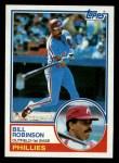 1983 Topps #754  Bill Robinson  Front Thumbnail