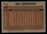 1983 Topps #754  Bill Robinson  Back Thumbnail
