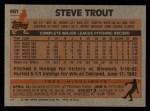 1983 Topps #461  Steve Trout  Back Thumbnail