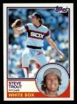 1983 Topps #461  Steve Trout  Front Thumbnail