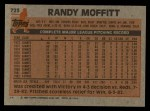 1983 Topps #723  Randy Moffitt  Back Thumbnail