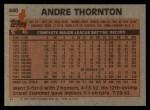 1983 Topps #640  Andre Thornton  Back Thumbnail