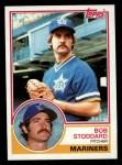 1983 Topps #195  Bob Stoddard  Front Thumbnail