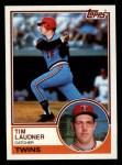 1983 Topps #529  Tim Laudner  Front Thumbnail