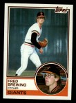 1983 Topps #747  Fred Breining  Front Thumbnail