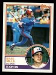 1983 Topps #744  Brad Mills  Front Thumbnail