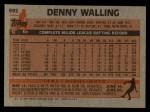 1983 Topps #692  Dennis Walling  Back Thumbnail