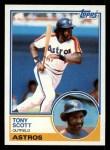 1983 Topps #507  Tony Scott  Front Thumbnail