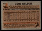 1983 Topps #106  Gene Nelson  Back Thumbnail