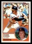 1983 Topps #767  Duane Kuiper  Front Thumbnail