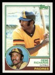 1983 Topps #7  Gene Richards  Front Thumbnail