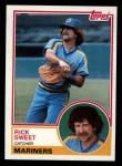 1983 Topps #437  Rick Sweet  Front Thumbnail