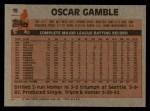 1983 Topps #19  Oscar Gamble  Back Thumbnail