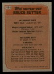 1983 Topps #151   -  Bruce Sutter Super Veteran Back Thumbnail