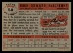 1956 Topps #50  Hugh McElhenny  Back Thumbnail