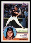 1983 Topps #757  Rick Manning  Front Thumbnail