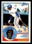 1983 Topps #453  Lamar Johnson  Front Thumbnail