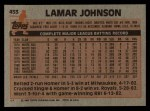 1983 Topps #453  Lamar Johnson  Back Thumbnail