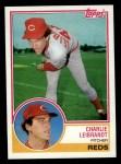 1983 Topps #607  Charlie Leibrandt  Front Thumbnail