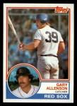 1983 Topps #472  Gary Allenson  Front Thumbnail