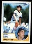 1983 Topps #176  Dave Righetti  Front Thumbnail