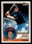 1983 Topps #121  Mickey Hatcher  Front Thumbnail