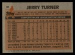 1983 Topps #41  Jerry Turner  Back Thumbnail