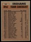 1983 Topps #141   -  Rick Sutcliffe / Toby Harrah Indians Leaders Back Thumbnail