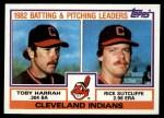 1983 Topps #141   -  Rick Sutcliffe / Toby Harrah Indians Leaders Front Thumbnail