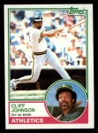 1983 Topps #762  Cliff Johnson  Front Thumbnail