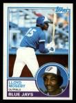 1983 Topps #452  Lloyd Moseby  Front Thumbnail