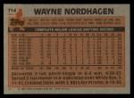 1983 Topps #714  Wayne Nordhagen  Back Thumbnail