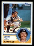 1983 Topps #697  Barry Foote  Front Thumbnail