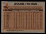 1983 Topps #137  Woody Fryman  Back Thumbnail