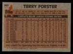 1983 Topps #583  Terry Forster  Back Thumbnail